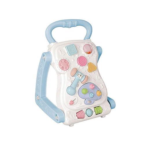 Caminante del bebé Empuje antivuelco bebé aprendiendo Caminando 6 ...