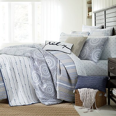 Charmant Amazon.com: Coastal Living Sand Script Quilt Set (Full/Queen, Blue): Home U0026  Kitchen