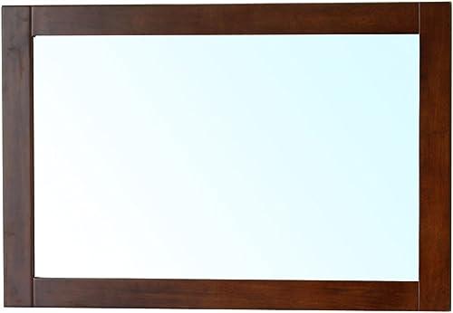 Bellaterra Home 203129-MIRROR-W Mirror Wood Frame, Walnut