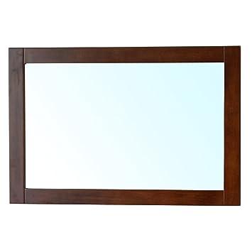 bellaterra home 203129 mirror w mirror wood frame walnut - Wood Frame Mirror