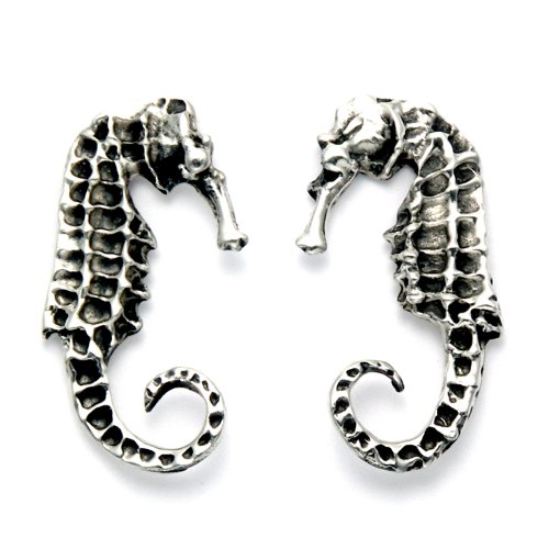 Stainless Steel Seahorse Stud Earrings (Sea Earrings Pacific)