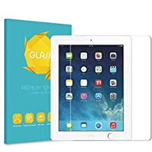 Fintie iPad 2/3/4 Tempered Glass Screen Protector, Anti Scratch Premium HD Clear 9H Hardness for Apple iPad 2, the new iPad 3 & iPad 4th Generation with Retina Display