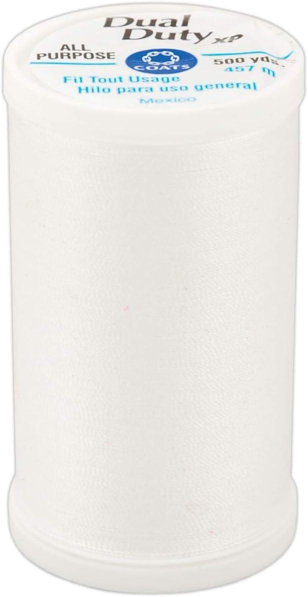 White 6 Pack Coats 97356 Dual Duty XP General Purpose Thread 500yd-6//Pk-White