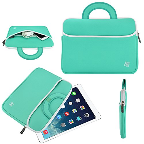 Tablet Sleeve Neoprene Turquoise Handle product image