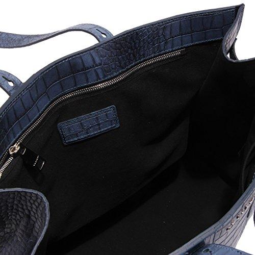4456V borsa donna ORCIANI pelle blue genuine leather shopping bag woman Blu 100% Garantizó El Precio Barato 9JHhXI
