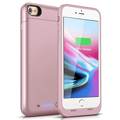 new arrival 6fa51 4b7d8 Battery Case for iPhone 7/8, 4500mAh Portable Charging Case Protective  Rechargeable Charger Case Extended Battery Compatible with iPhone 7 8 (4.7  ...