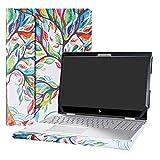 Alapmk Protective Case Cover For 15.6' HP Envy X360 15 15-cnXXXX 15m-cnXXXX 15-cpXXXX 15m-cpXXXX Laptop [Warning:Not fit Envy X360 15 15-apXXX 15-arXXX 15-wXXX 15-bqXXX 15-bpXXX 15-uXXX],Love Tree