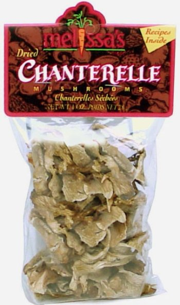 Melissa's Dried Chanterelle Mushrooms, 2 Packages (1oz)