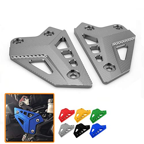 Heinmo New Motorcycle CNC Aluminum Accessories Foot Peg Heel Plates Guard Protector For Kawasaki Z900 2017 Foot Peg Heel Protection Z900 Footrest Rear set Foot Peg (titanium)