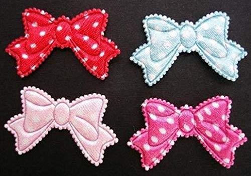 Ribbon Art Craft Decoration 80 Mix Satin Polka Dot Ribbon Bow 1