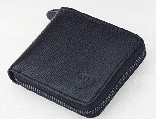 6b2ce010b40e2 Admetus Men's Genuine Leather Short Zip-around Bifold Wallet ...