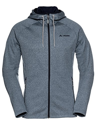 VAUDE Men's Civetta Jacket - Warm Fleece Jacket for Hiking and Travel - Easy-Care, Fast-Drying, Stretchy - Fjord Blue, - Rock Vaude