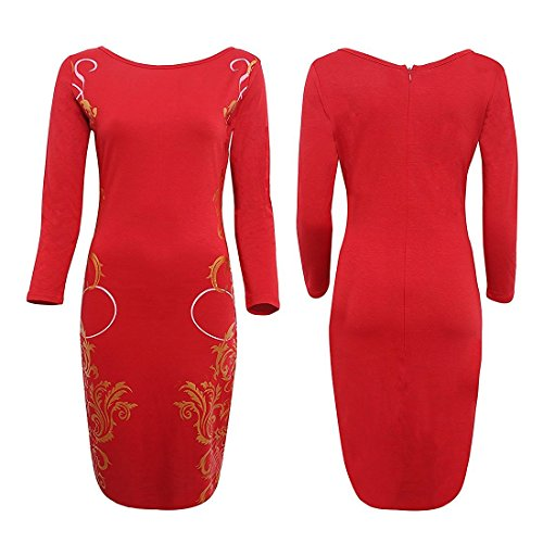 Astuccio Polly Lunghe OnlineVestito Donna Maniche Red v08wONnm