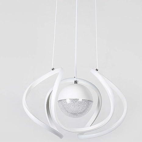 LED Araña de luces Creativo Curva Lámpara colgante Esfera ...