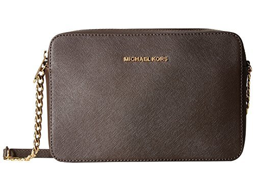 Michael Kors  Women's Jet Set Crossbody Leather Bag, Coffee, Large