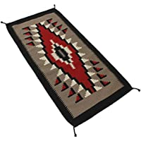 Splendid Exchange Hand Woven Wool Southwest Area Rug, 2.7 by 5.3 foot, Big Diamond Red and Grey