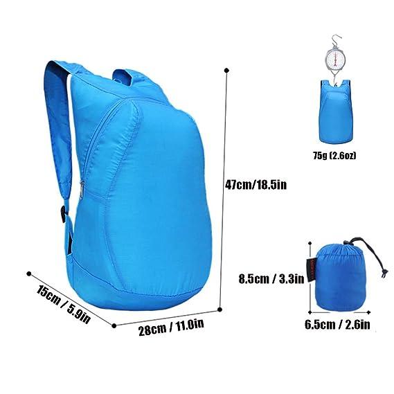 06b5aae1ba0b Amazon.com : Oactvt Backpacks 20L Lightweight Foldable Outdoor ...