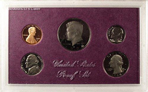 1984 Mint (1984 Mint Proof Set Original Box US Mint 5 Coins)