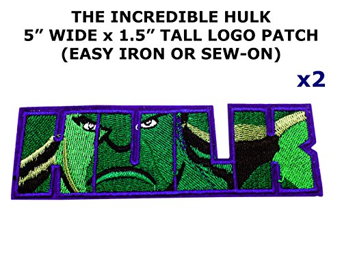 2 PCS Marvel Comics The Incredible Hulk Theme DIY Iron / Sew-on Decorative Applique Patches
