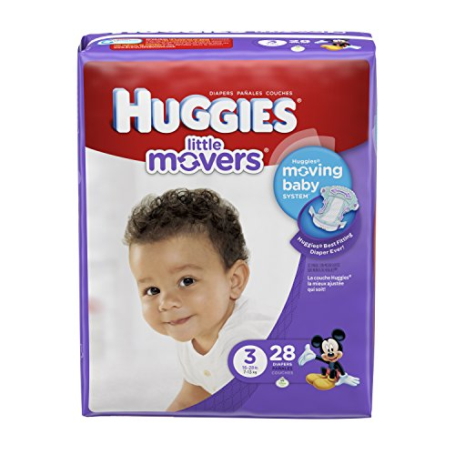 Huggies Little Movers Diapers - Size 3-28 ct (Huggies Little Movers Size 3 28 Count)