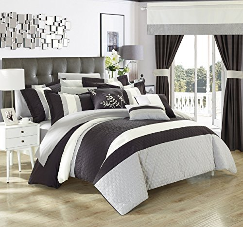 Chic Home Covington 24 Piece Comforter Set Embroidered Bed