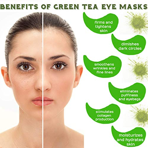 Green Tea Matcha Eye Mask by SUPRANCE – Under Eye Patches Treatment for Dark Circles, Eye Bags, Puffiness – Anti-Wrinkle With Hyaluronic Acid and Collagen – 30 Pairs/60 Pcs.