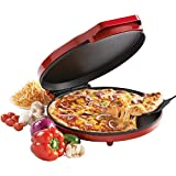Kitchen & Housewares : Betty Crocker BC-2958CR Pizza Maker, 1440 Watts, Red