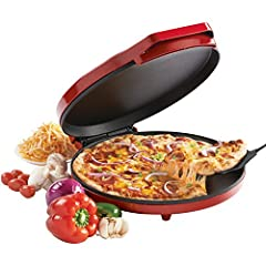 For fast, delicious pizza, this pizza maker is a great choice. It's not just for pizza, though - make quesadillas, nachos, mini frittatas, quiche, croissants, giant cookies, hors d'oeuvres and more. The nonstick coated baking plate bakes the ...