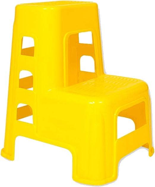 PENGJIE - Taburete de Escalera Plegable con 2 peldaños, de plástico, Antideslizante, para el hogar y la Oficina: Amazon.es: Hogar