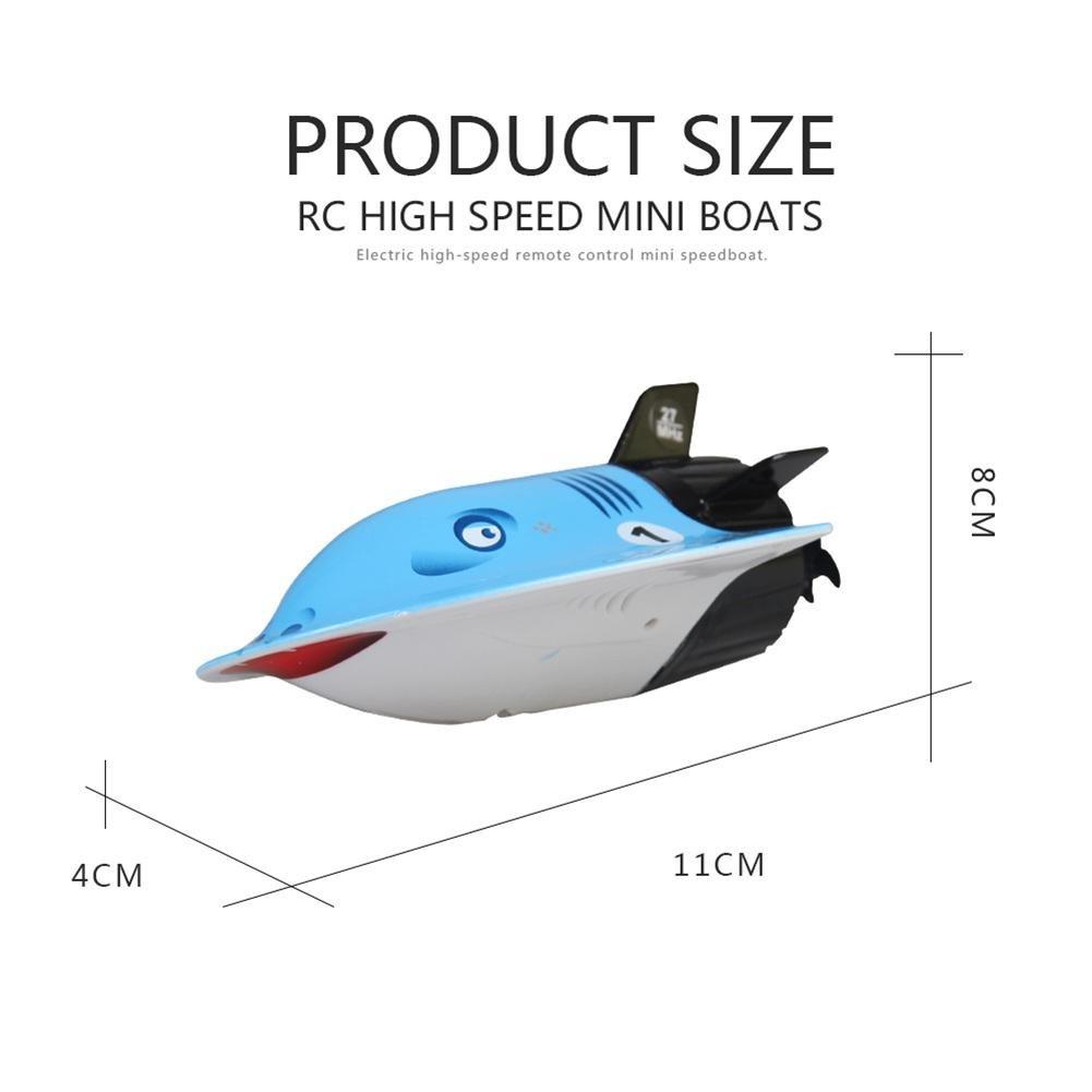 Luerme Fernbedienung Boot f/ür Pools und Seen Innovative Mini wiederaufladbare Fernbedienung U-Boot Spielzeug Schnellboot