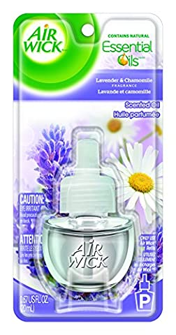 Air Wick Scented Oil Refill, Lavender & Chamomile, 0.67oz, Air Freshener (Plugin Alliance)
