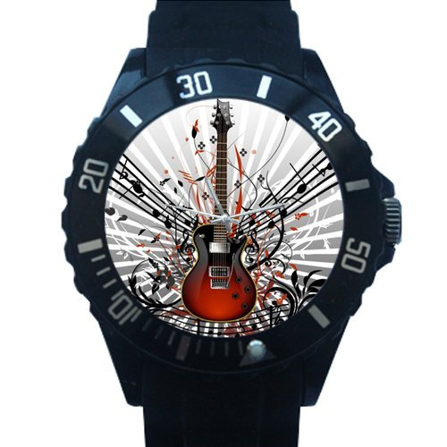 Birthday / Christmas Day Gifts Classic Distinctive Guitar Music Notes Plastic High Quality Watch ()