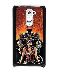 Custom Design for LG G2 Funda Case - Batman And Wonder Woman DC Comics Hard Funda Case & Cove Slim Armor