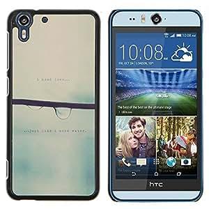 - love blurry sweet rain focus - - Modelo de la piel protectora de la cubierta del caso FOR HTC Desire EYE M910x RetroCandy