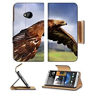Birds Animals Eagles Flying Field HTC One M7 Flip Cover Case with Card Holder Customized Made to Order Support Ready Premium Deluxe Pu Leather 5 11/16 inch (145mm) x 2 15/16 inch (75mm) x 9/16 inch (14mm) MSD HTC One Professional Cases Accessories Open Ca by lolosakes
