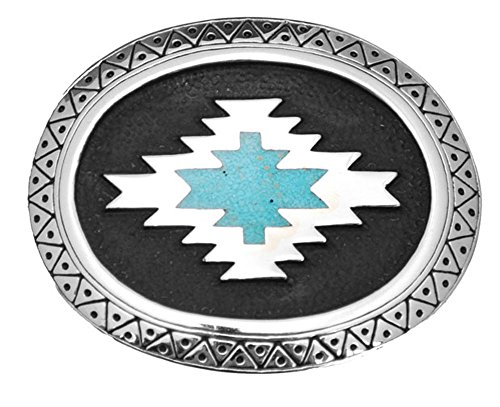 Buckle Set Turquoise Belt - Aztec with Turquoise Inlay Belt Buckle