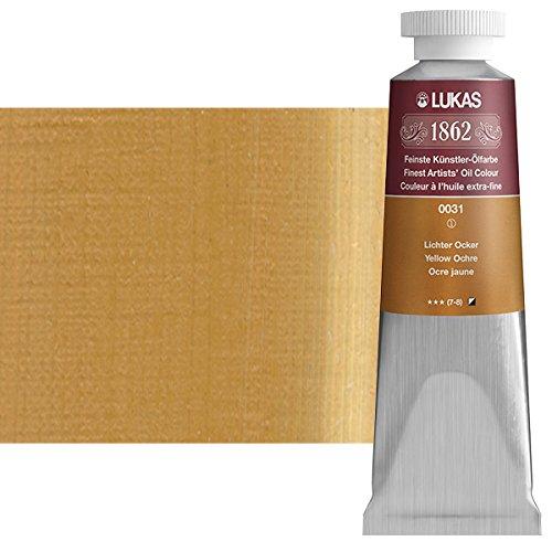 LUKAS 1862 Artists' Oil Paint Master Quality German Engineered Oil-Based Art Paints - 37ml Single Tubes - [Yellow Ochre]