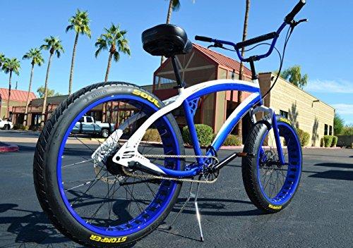 26x4 Fat Tire Beach Cruiser Bike - Soul Blue D Stomper - 3 Speed