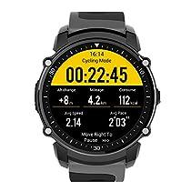K & J Chipmunk FS08Bluetooth Smart orologi bracciale con cardiofrequenzimetro, contapassi passo scritture calorie calcolo distanza calcolo GPS bussola per iOS e Android