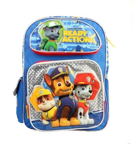 Backpack - Paw Patrol - Ready for Action Blue/Silver New 121949 Ruz 25789