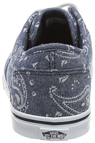 Baskets Vans Bleu flocked Navy Femme Basses Low Atwood Bandana EExgCq4