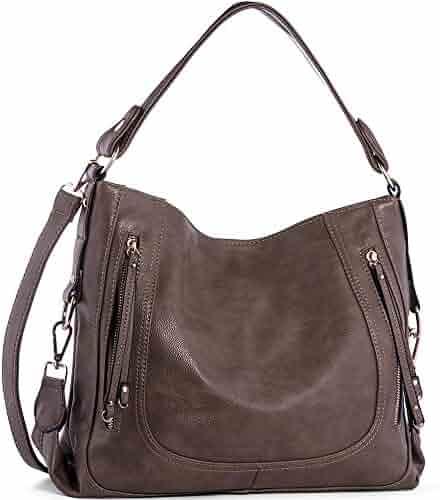 UTAKE Women's Shoulder Bags PU Leather Hobo Handbags Top-Handle Purse for Ladies