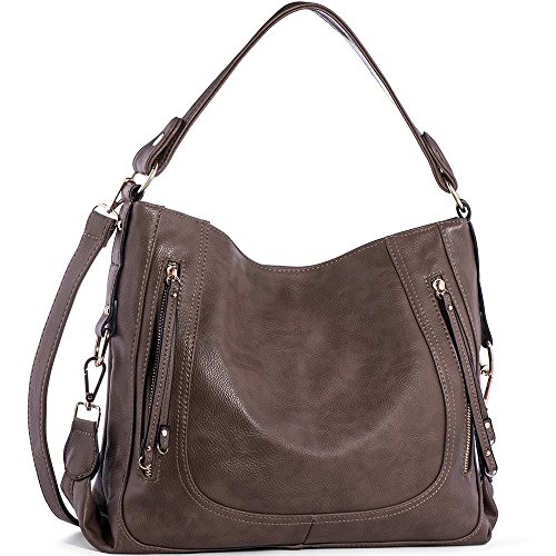UTAKE Women's Shoulder Bags PU Leather Hobo Handbags Top-Handle Purse for - Hobo Handbag Leather Medium