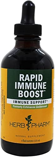 Herb Pharm – Rapid Immune Boost Liquid Extract – 4 fl. oz. Formerly Echinacea Goldenseal Compound