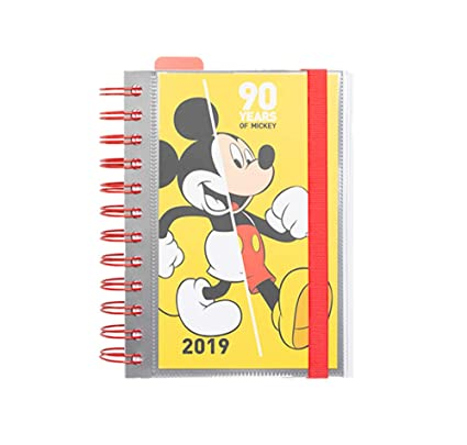 Agenda 2019 D/P Mickey 90 12x16 Cm