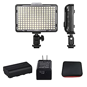 Digital SLR Camera Lighting - Bemaxy 176 Ultra Thin Dimmable Camera Photo/Studio Video LED Light Camcorder Lamp Panel with Color Filters for Nikon, Canon, Panasonic, Tripod and Other DSLR Camera
