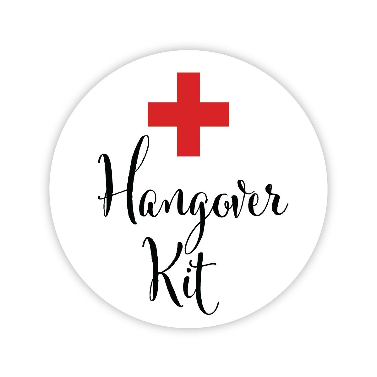 Hangover Kit, In Sickness & Health Wedding Stickers, Choose Your Colors (#542)