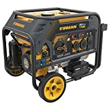 Firman H03651 4550/3650 Watt Electric Start Gas or Propane Dual Fuel Portable Generator CARB and cETL...