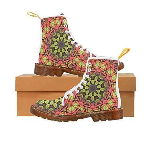 Le Interest Mandala Fleur Martin Bottes Mode Chaussures Pour Femmes