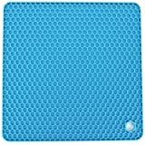 Allforhome(TM) Blue Square Honeycomb Silicone Heat resistant Coasters Tableware Insulation Pad Potholders Insulation Mat